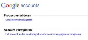 gmail account definitief verwijderen
