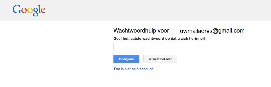 gmail wachtwoord veranderen